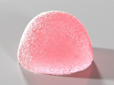 3D Gumdrop Render realistic 3d artist cute pink red b3d colorful gumdrop candy blender 3d render 3d
