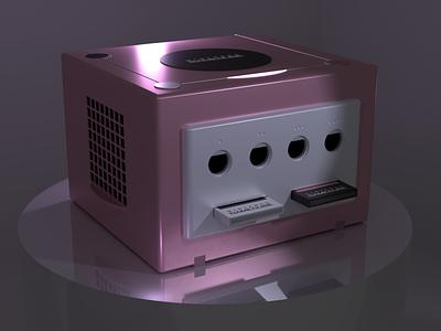 3D Nintendo Gamecube Render 3d model pink b3d blender video game console retro video games video game gamecube nintendo 3d artist 3d render 3d