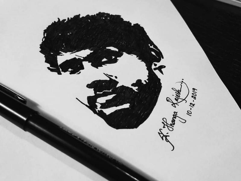 Self potrait brand portrait art drawings black pencil pen