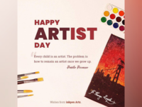 Happy Artist day April 15th artist art drawing painting