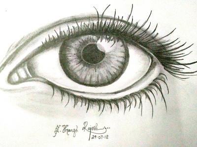 Pencil Shaded Eye shading drawing pencil sketch