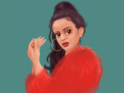 Rosalía flamenco illustration art singer rosalía