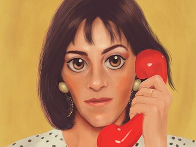 Mujeres al borde de un ataque de nervios - Almodóvar dibujo carmen maura almodóvar antonio ufarte art adobe illustration