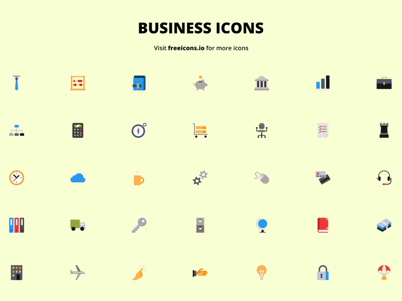 Business Icons free icons app ux branding ui design vector web illustration icon