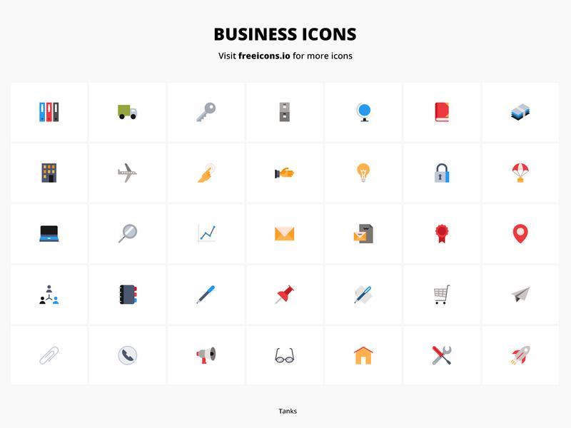 Business Icons 2 vector logo design website logo ux app ui branding vector web free icons illustration icon