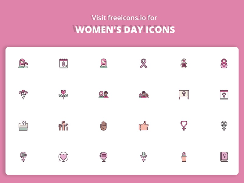 Woman's Day Icons minimal svg logo ios png logo ai logo ui womans woman womans day vector web ux app freeicons vector logo design free icons illustration icon
