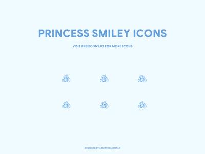 princess smiley icons