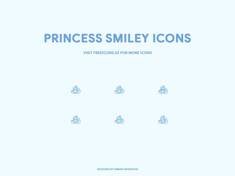 princess smiley icons branding website svg logo ux freeicons app vector logo design free icons web illustration vector icon