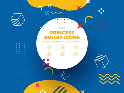 princess smiley icons