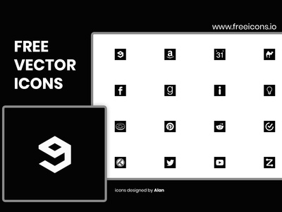 Free Vector Icons - designed by Alan