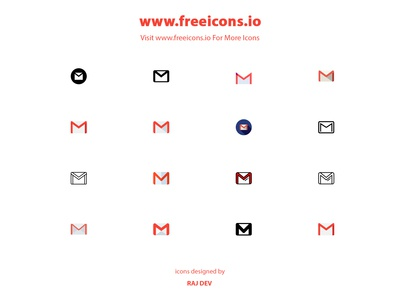free gmail icons