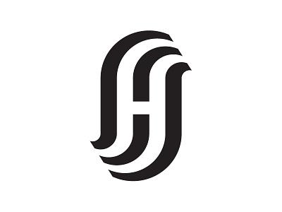 H.S.  logo branding mark id monogram ambigram minimal minimalist graphic design type letters