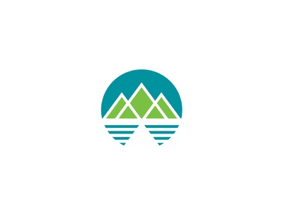 Mountains + Water + Sky #1 logo branding id icon mark minimal minimalist graphic design moutains water sky