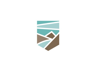 Mountains + Water + Sky #2 logo branding id icon mark minimal minimalist graphic design moutains water sky