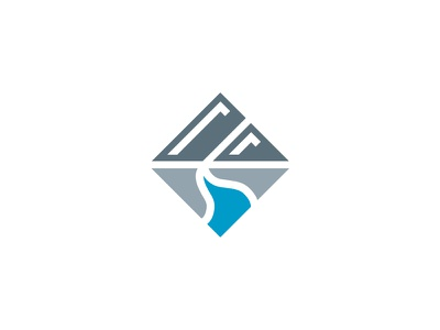 Mountains + Water + Land #3 logo branding id icon mark minimal minimalist graphic design moutains water sky