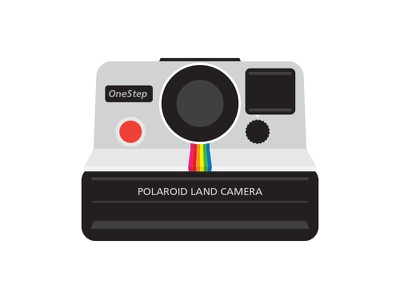 Polaroid Land Camera - OneStep SX-70  polaroid onestep one step sx-70 vintage film camera land 600