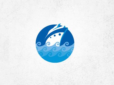 cruise ship logo identity cruise cruiseliner water sea trip travel