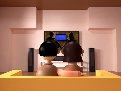 Couple watching tv - words can't explain c4d tv series room interior redshiftrender sofa breakingbad tv show cinema4d tv