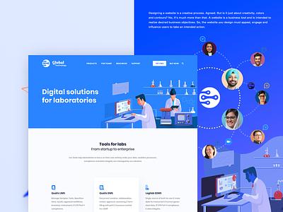 Digital lab Illustration - web design designlab laboratories visuals solution digital web design website illustration