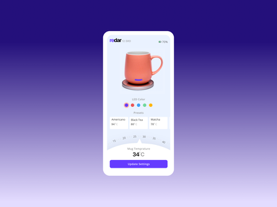 mug app concept landing page ux phone typography vector ui design daily challange illustration branding design ui