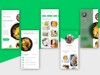 Recipe app interaction app profile profile user profile discover page food app recipe app branding ux design ui design