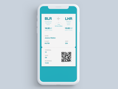 Boarding pass daily 100 challenge dailyui ui design flight flight app ticket app ticket airport boarding pass typography phone design ui daily challange