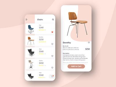 Furniture Store detail page shopping app app furniture store ecommerce shop furniture daily challange ui design design ui