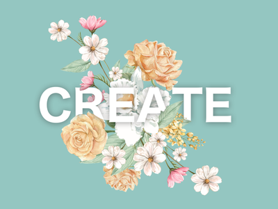 CREATE - Floral Typography floral logo flower typography floral flower floral illustration floral pattern floral art floral design floral typography landing page app typography ui design daily challange branding illustration design