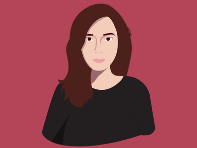 Self portrait vector branding illustration design ui portfolio woman human illustration digital illustration digital art portrait self portrait