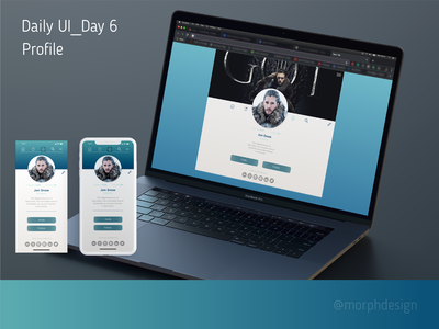 Daily UI_Day 6 - Profile App & Web