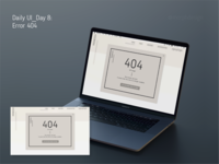 Daily UI_Day 8 - Error 404