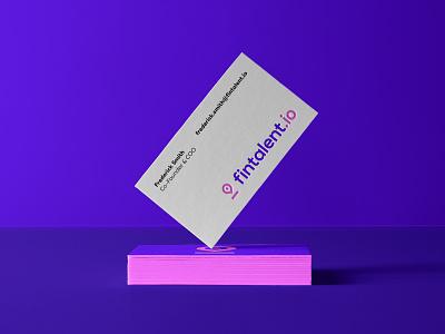 Logo design for hiring platform | Fintalent.io modern business pink violet tech minimal finance symbol mark branding logo design