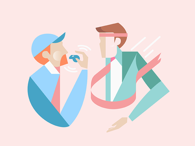Useful habits of managers flat vector design illustration