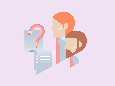 Questioning of personnel design vector flat illustration