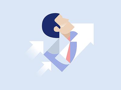 Career flat vector illustration