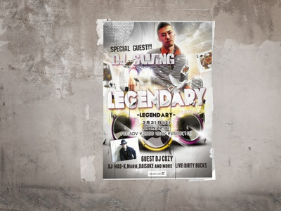 Flyer design for club event