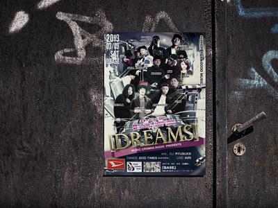 Event flyer for HIPHOP concert branding poster design poster graphic design flyer artwork flyer design