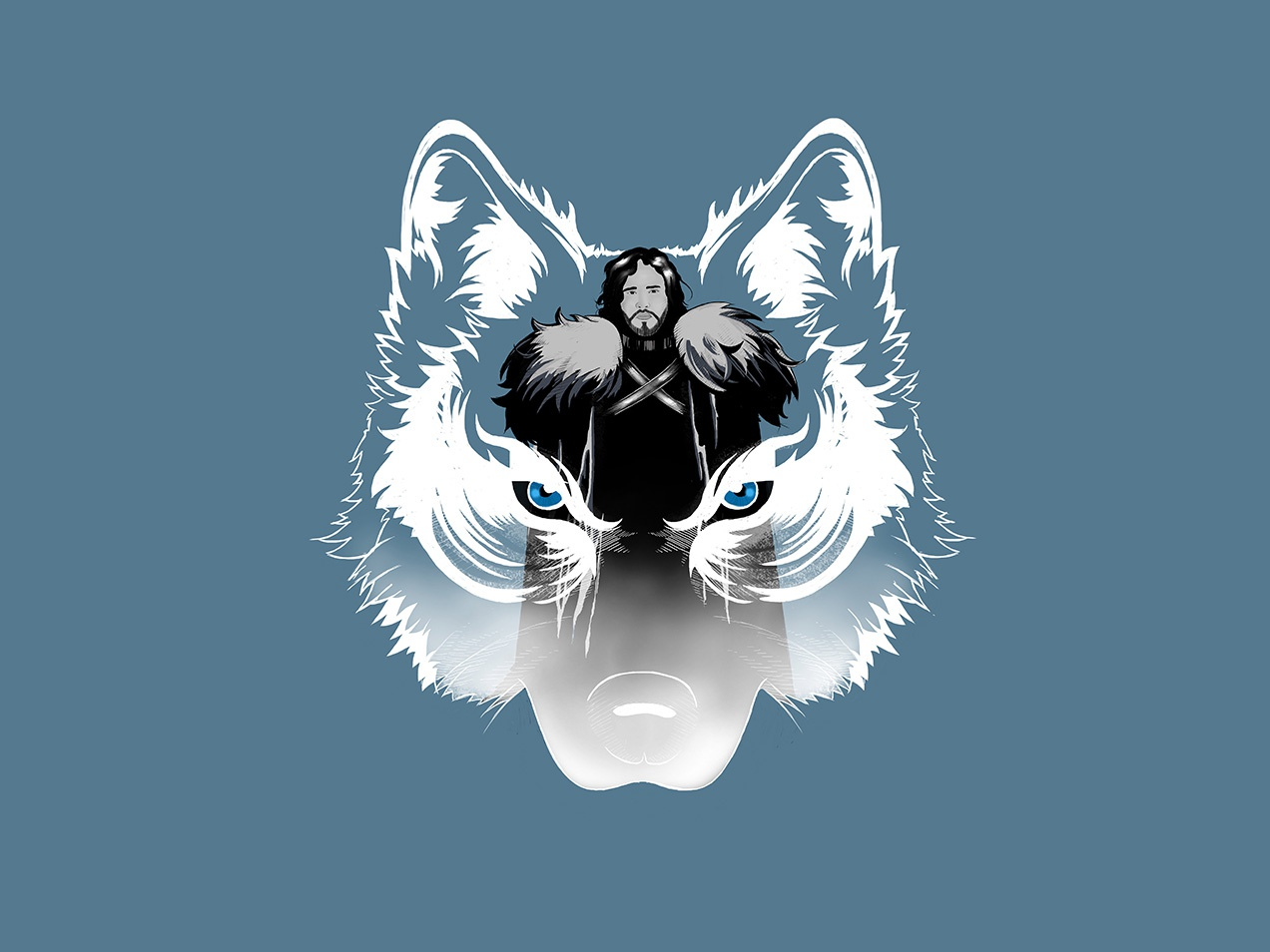 Jon Snow stark king in the north character design artwork game of thrones illustration jon snow