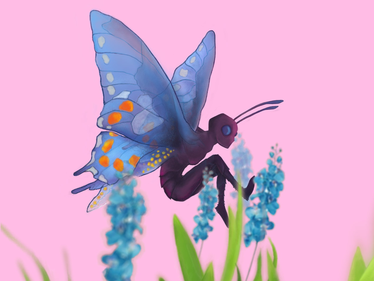 Butterfly butterfly concept art character design artwork digital 2d illustration