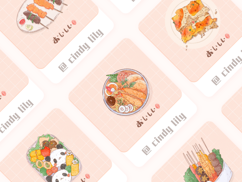 delicious food photoshop 水彩 ipad procreate design ui 插画 illustration