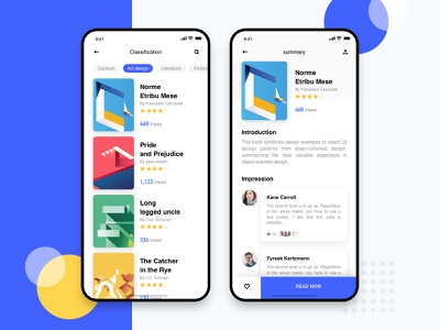 Book Reading App read book sketch app design ui