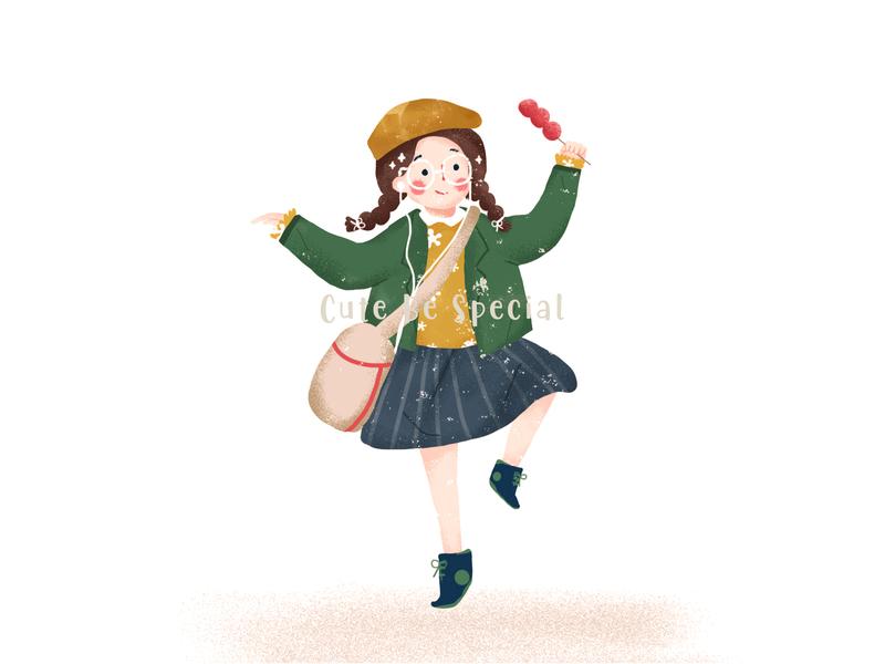 萌系女孩系列2 可爱 眼镜 女孩 ui design illustration