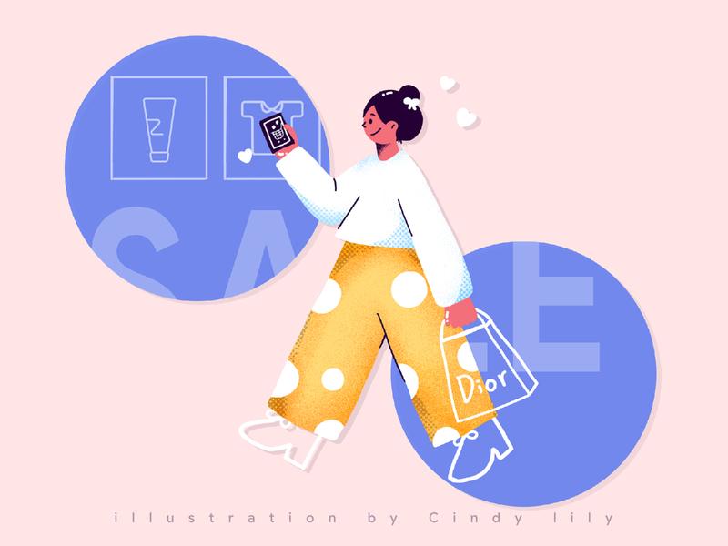 双11 -- shopping shopping 购物 设计 design ui 插画 illustration