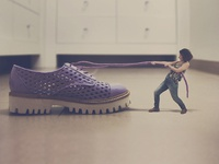 Carrying Her Shoes Everywhere