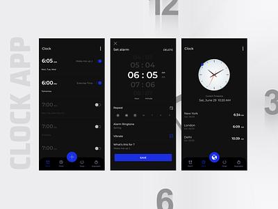 Clock App Challenge figma redesign concept uiux ui redesign design