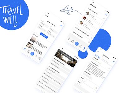 TravelWell - Corporate Travel App designer travel ux design vector concept figma bangalore uiux ui design
