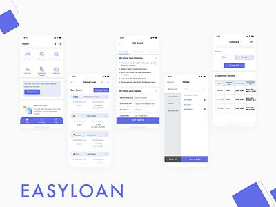 EasyLoan App uxdesign user interface ui design figma ux ui design