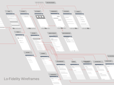 Lo-Fi Wireframes for TravelWell