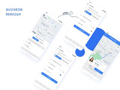 QuickRide Redesign redesign concept figma bangalore uiux ui design