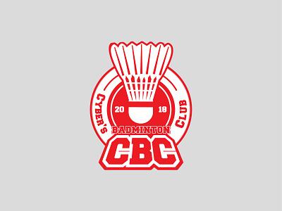 Cyberjaya Badminton Blub badminton typography flat logo illustration icon vector design